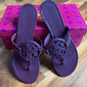 Tory Burch Metal Miller Embellished Sandal New